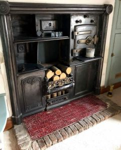This beautiful old kitchen range needed a sweep.