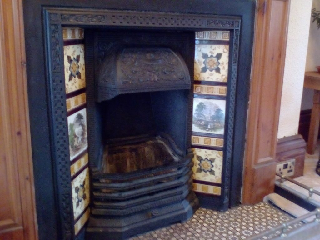 A beautiful open fireplace after sweeping.